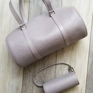 Auth Louis Vuitton epi soufflot lilac handbag